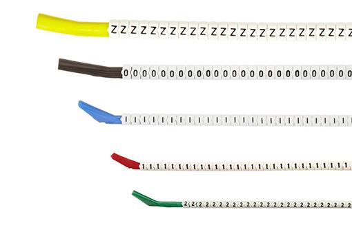 Schnapptüllen Kabelmarkierer auf Montagestab erhältlich in 12 Größen